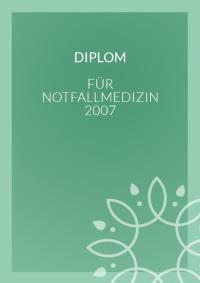Diplom für Notfallmedizin