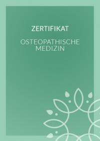 Zertifikat - Osteaopathische Medizin