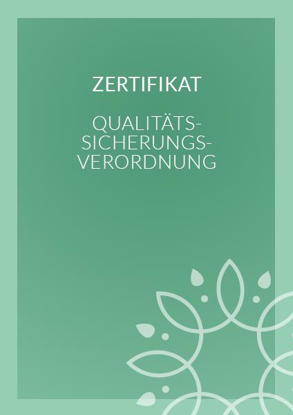 Zertifikat - Qualitätssicherungsverordnung